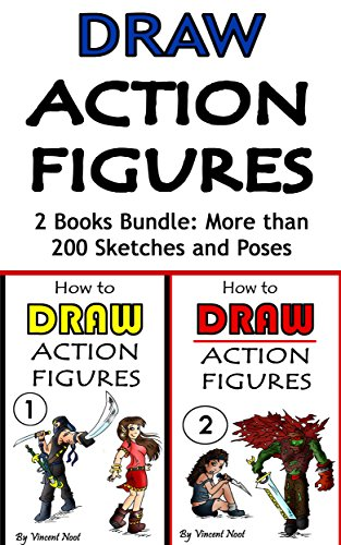 Draw-Action-Figures-Action-Figure-Drawing-2-Book-Bundle-More-than-200-Sketches-of-Action-Figures-and-Action-Poses-Drawing-Action-Figures-Draw-Action–How-Draw-Action-Poses-English-Edition