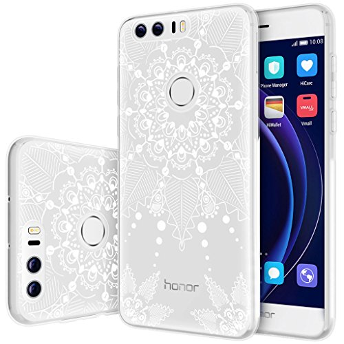 """Coque Huawei Honor 8 , ivencase Honor 8 Coque Housse Etui TPU Silicone Clair Transparente Ultra Mince Anti-Scratch Back Case Cover pour Huawei Honor 8 5.2"""""""