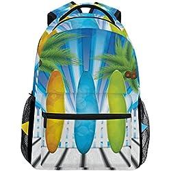 TIZORAX Planche de Surf Sac à Dos Sac d'école pour randonnée Voyage Sac à Dos