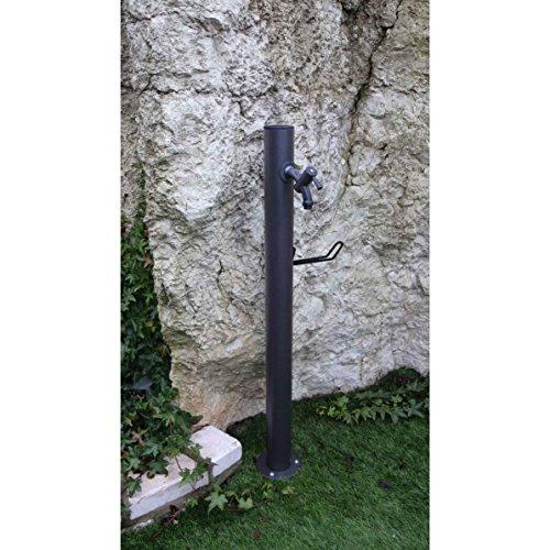 Fontane moderne punto acqua rotondo diam.cm14x100h antracite in ferro con 540rukit40