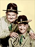 Posterlounge Leinwandbild 30 x 40 cm: Dick & Doof in Uniform von Everett Collection - fertiges Wandbild, Bild auf Keilrahmen, Fertigbild auf Echter Leinwand, Leinwanddruck