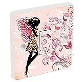 Light Switch Sticker Vinyl / Skin cover Pink Fairy , sw77