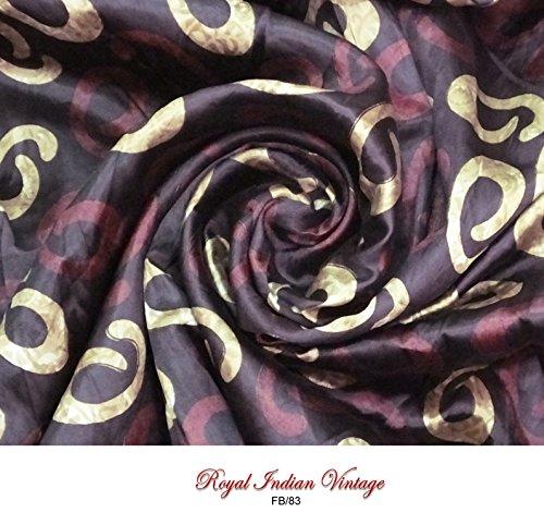 Vintage Stoffvorhang drapieren Sari Material eingesetzt braun gestaltete Wohnkultur Kleid machen modische Bekleidung Design indische Seidenmischung Kissenstoff von der Werft Anzug 44 (Kostüm Indischen Machen)