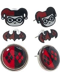 DC Comics - Assortiment clous d'oreille Harley Quinn bijou - Elbenwald