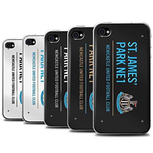 Offiziell Newcastle United FC Hülle / Case für Apple iPhone 4/4S / Pack 6pcs Muster / St James Park Zeichen Kollektion Pack 6pcs
