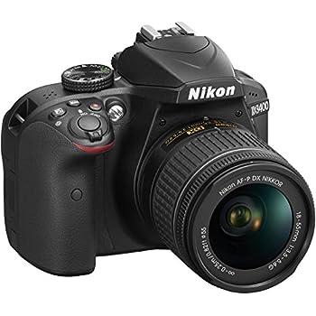 Nikon D3400 18-55mm VR Lens Kit - Cámara digital (AF-P DX NIKKOR 18-55 mm f/3.5-5.6G)