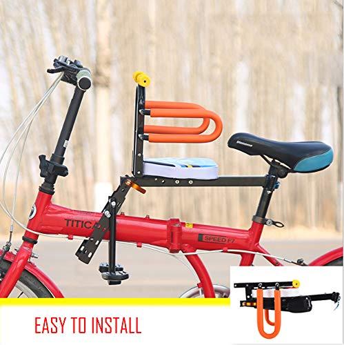 FEZBD Sicherer Frontmontierter Kinderfahrradsitz, Kindersattel Elektrisches Fahrrad Kinder Sicherheit Vordersitz Sattel Kissen -