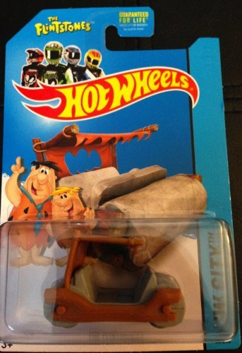 2014 Hot Wheels Hw City 83/250 - Flintmobile (The Flintstones) by Hot Wheels