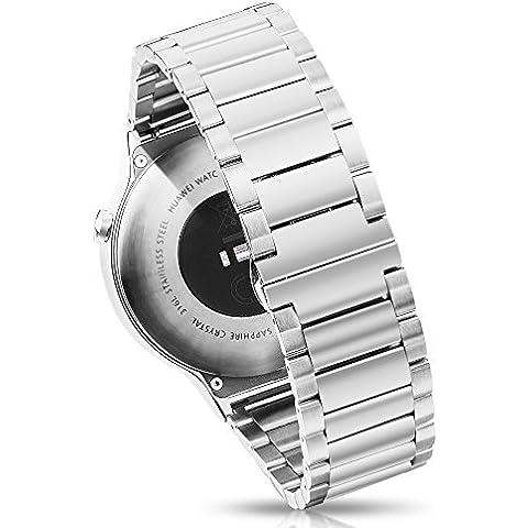 pinhen 22mm banda de reloj acero inoxidable Metal reloj correa para reloj de repuesto para Asus ZenWatch 2WI501Q 2015, 46mm), Moto 3602nd 2015, Pebble tiempo, tiempo acero, Samsung Gear 2, Neo, Live, LG G Watch, Urbane