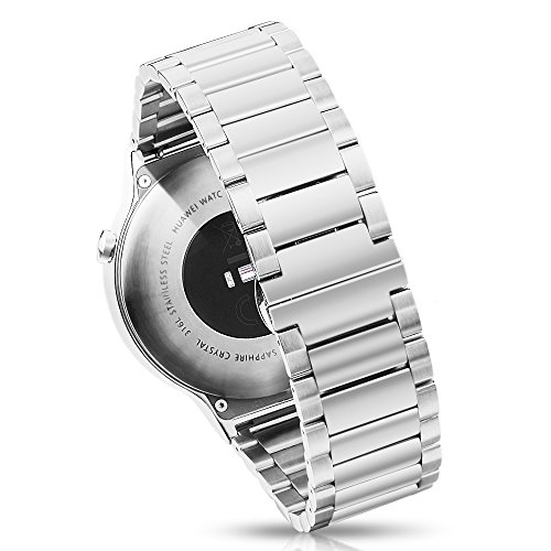 Pinhen 22mm Uhrenarmband Edelstahl - Gear S3 Armband Metall Ersatzband für Galaxy Watch 46mm, Huawei Watch GT, LG G Watch, Moto 360 46mm, Pebble Time, Ticwatch Pro, Amazfit Pace (Butterfly Silver) (Watch Moto Metall Band 360)