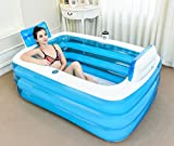 FHK,Klappbare Badewanne Erhöhen Sie die Verdickung der erwachsenen Bad Bubble Kunststoff Badewanne Aufblasbare Badewanne, Badfaß