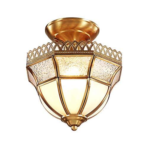Halbbündige Deckenleuchte mit Lampenschirm aus Messingglas, industrielles Glas in der Nähe der Deckenleuchte Bauernhaus Pendelleuchten Edison Lights für Kitchen Island Esszimmer Schlafzimmer Foyer -