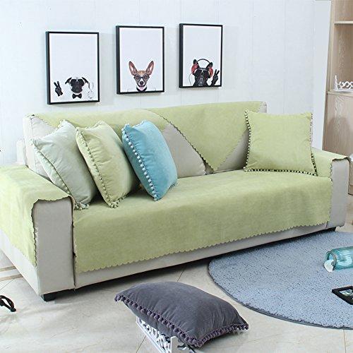 reszeiten Sofa handtuch,Urin Staubdichte couch,Sofa-cover-matten Anti-rutsch-sofa slipcovers Haustier abdeckung für couch Volltonfarbe-B Kissenbezug + Kissen 45x45cm(18x18inch) ()