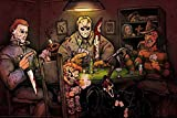 Get Down Art Big Chris Poster Slashers Playing Poker Horror Movie Characters Parodie 91,4 x 61 cm