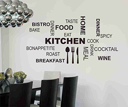Decals Design 'Kitchen Quote Modern Art' Wall Sticker (PVC Vinyl, 50 cm...