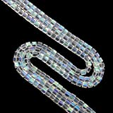 Imported 100pcs/6mm Glass Loose Beads Sq...