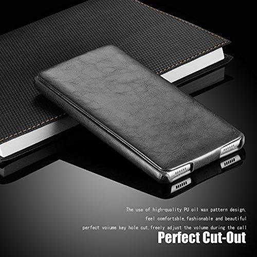 Tinxi 259590005 Housse en cuir rigide pour iPhone 6 Brun gris_2