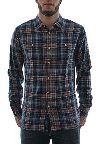 Pepe Jeans Uomo Camicia A Maniche Lunghe Pepe Jeans Taglia 2 Blu