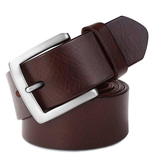 Jiejing uomo cintura,tempo libero pin fibbie business cintura gioventù studente selvaggio cintura-a 110cm(43inch)