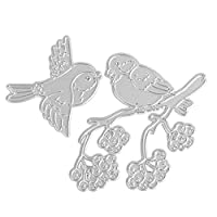 Demiawaking Birds at Branch Cutting Dies Stencil Frame DIY Decoration Embossing Template for Scrapbooking Album Paper Card Making