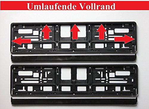 2 x Kennzeichenhalter SCHWARZ Kennzeichenhalterung im Set mit 4 Befestigungsschrauben + Montageanleitung + neue KFZ Schein Schutzhülle *** alles Neu & OVP ***TOP ANGEBOT*** - 4