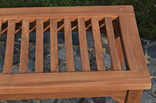 CLP solide Holz-Bank HAVANA ohne Lehne, aus massivem Teakholz (bis zu 5 Größen wählbar) 200x45x45 cm - 5