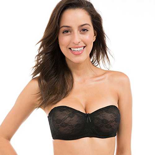be72d66741 Dobreva Women s No Padding See-through Underwire Multiway Strapless Lace Bra  - Buy Online in UAE.