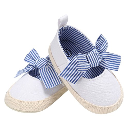 Primeiro Bebé derrapante Arco Princesa Branco Macio Mocassins Anti Miyasudy Walker Lona Sapatas Únicos De Do xCS7gn