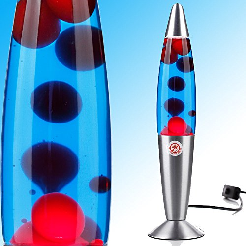 MIA Light Lavalampe ↥355mm| Rot & Blau | Retro | Lavaleuchte Magmalampe Magmaleuchte Lavalicht