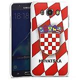 DeinDesign Samsung Galaxy J7 (2016) Hülle Case Handyhülle Kroatien Em Trikot Football Fussball