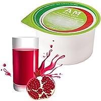 AM Gel Cup - Acquagel de granadina con edulcorante-Agua gelificada lista para su uso en 24 frascos de 125 g