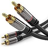 KabelDirekt - Stereo Cinch Audio Kabel - 1m - (2 Cinch zu 2 Cinch) - PRO Series