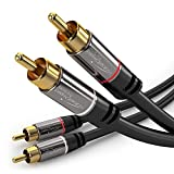 KabelDirekt - Stereo Cinch Audio Kabel - 2m - -