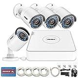 ANNKE POE Überwachungskamera Set, 1080P 4Kanal PoE NVR mit 4PCS 960P Überwachungskamera ohne Festplatte,Nachtsicht Bewegungserkennung überwachungssysteme