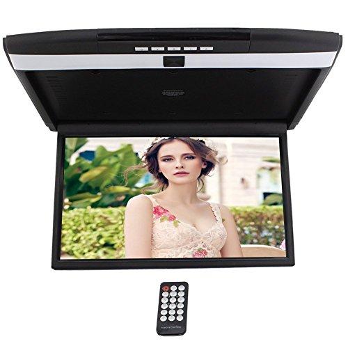 Digital Display TFT supporto del tetto dell'automobile HD 17 '' per le auto Flip Down Monitor built-in lettore Overhead USB SD ingresso 2 Video modulatore
