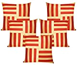 Cross Patti Rust N Beige Cushion Covers ...
