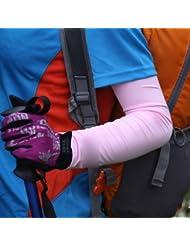 HuaYang Bouclier UV manchon bras pour les activités extérieures(Noir)