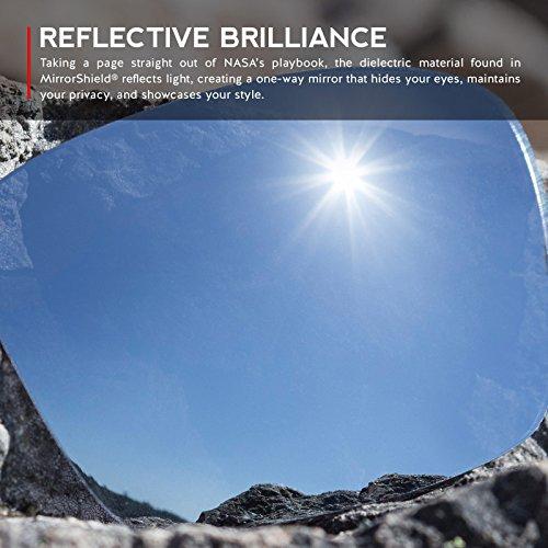 Verres de rechange pour Oakley Flak Jacket XLJ Asian Fit — Plusieurs options Titanium MirrorShield® - Non-Polarisés