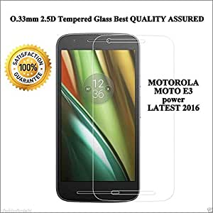 Dashmesh Shopping Tempered Glass For Motorola Moto E3 Power Moto E3 [Cutout For Proximity Sensor], 0.3mm thickness, 9H Hardness, 2.5D Curved Edge, Reduce Fingerprint, No Rainbow, Bubble Free & Oil Stains Coating with Alcohol wet cloth pad, Dry cloth pad & clean micro fibre Dry cloth, Anti Explosion Tempered Glass Screen Protector For Motorola Moto E (3rd gen) Moto E3