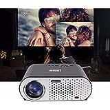 200inch screen Projecteur de home cinéma portatif 3200 Lumens 1280 * 800 Résolution 3000: 1 téléviseur HD Full HD Projecteur de jeux vidéo multimédias LCD 3D