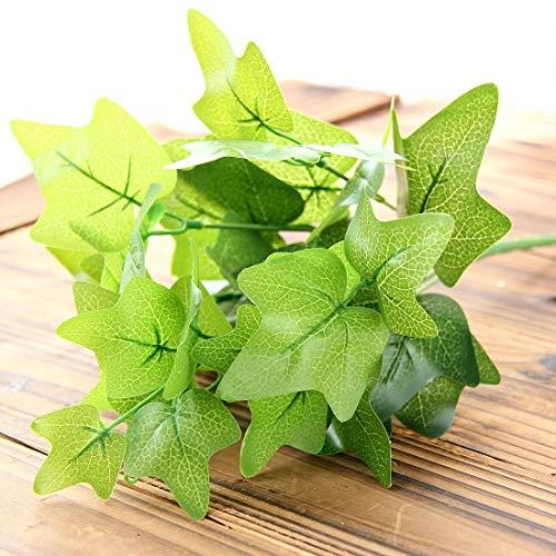 Easy Go Shopping 2 STÜCKE Künstliche Pflanzen Für Kunststoff Blumen Haushaltsgeschäft Liefert Dekoration Japanischen Kriechpflanze Blatt Möbeldekoration