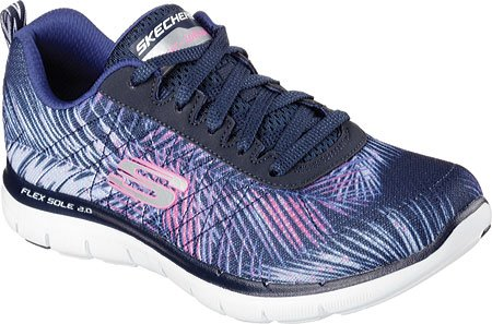 Skechers Flex Appeal 2.0 Tropical Bree, Chaussures Multisport Outdoor Femme Violet