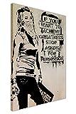 CANVAS IT UP Inspirierende Banksy Zitat erreichen, Größe Maskiert Girl Graffiti Art Prints Leinwand Art Wand Bilder Größe: A2–61x 40,6cm (60cm x Größe: 40cm)