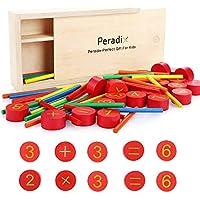 Peradix Juguetes de Madera para Niños,Juguetes de Lógica para Sumas y Restas, Adecuado para la educación Preescolar, En Favor de La Desarrollo de La Inteligencia