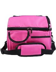 B-Redder® Doble hielo grueso alimentos picnic bolsa de transporte Cooler Bolsas de almuerzo fresco Congelado o caliente Mantener Bolso 600D Oxford Impermeable Aislado 8L Grande(azul) (rosa)