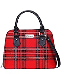 Royal Stewart Tartan Convertible Bag by Signare | Stylish Shoulder Tote | 36x23x12.5 cm | (CONV-RSTT)
