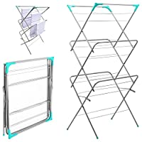 3 Tier Clothes Airer Laundry Dryer Concertina Indoor Outdoor Patio Horse Towel