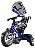 Kiddo Blue Smart New Design 4-in-1 Childrens Tricycle Kids Trike 3 Wheel Bike Parent Toddler Trike New – Blue