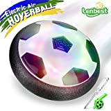 Lenbest Hover Ball Calcio da Interno, Calcio Sportivo per Bambini con paracolpi in Schiuma e potenti luci a LED per Bambini Regali di Natale per Animali Domestici (Bonus Mini cacciavite e Fischietto)