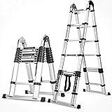 XMGJ Portascala Passo sgabello - scala di estensione multi-funzione, in lega di alluminio di spessore scaletta pieghevole in legno di sollevamento attico scala di ingegneria portatile/facile da me